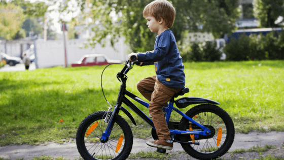 4 Year old boy riding bike
