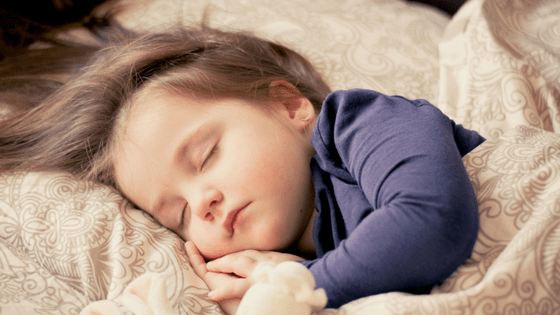 Child sleeping peacefuly