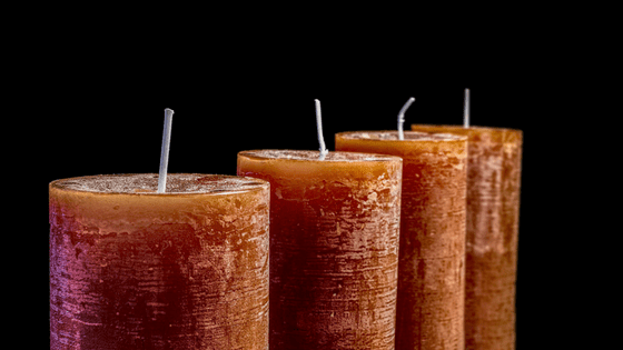 Dark, scented candles