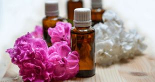 Essential Oils white and pink flowers
