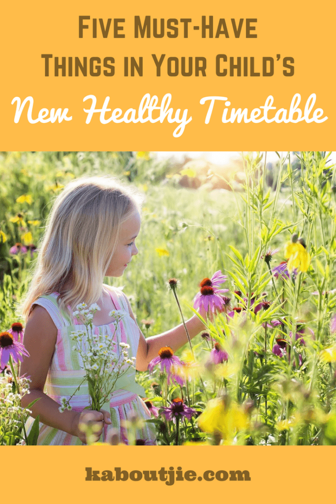 Five Must Have Things in Your Child's New Healthy Timetable