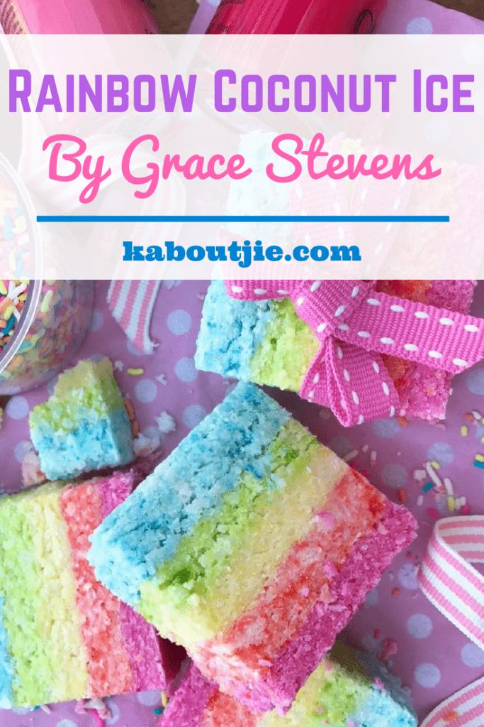 Rainbow Coconut Ice by Grace Stevens