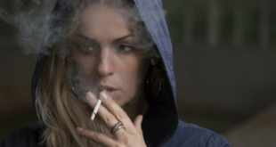 Woman smoking addiction
