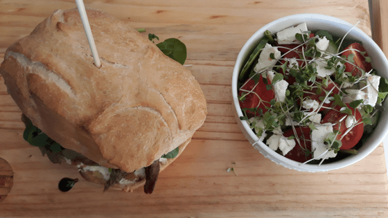 Beefy Panini with Salad