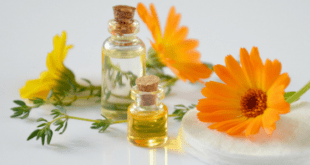 Essential oils with yellow and orange flowers