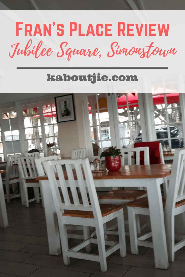 Fran's Place Review - Jubilee Square, Simonstown