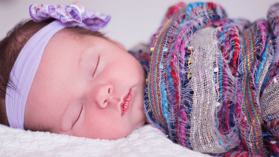 Newborn baby purple headband