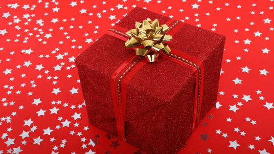 Red wrapped gift