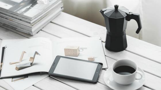 Ipad coffee magazine