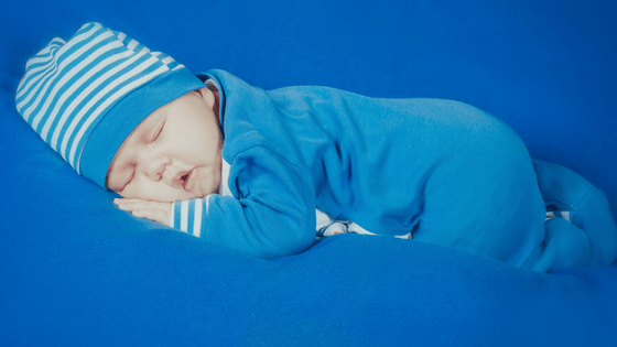 Baby in Blue Sleeping