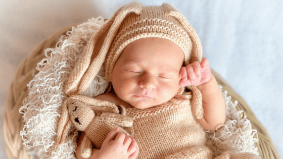 Cute Baby Sleeping Bunny ears hat