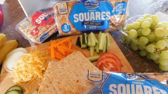 Blue Ribbon Sandwich Squares Lunch