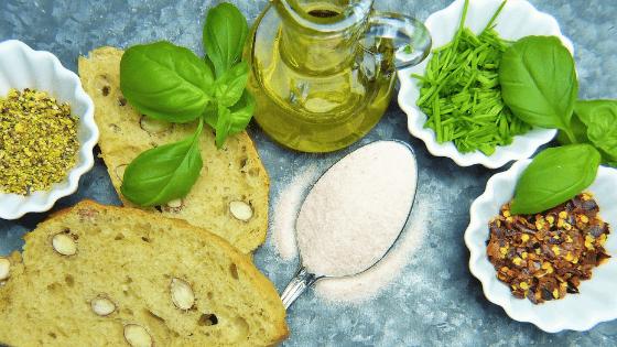 Fresh green health foods