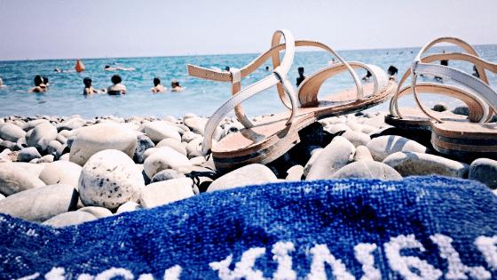 Sandals towel beach