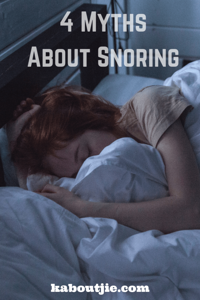 4 Myths About Snoring