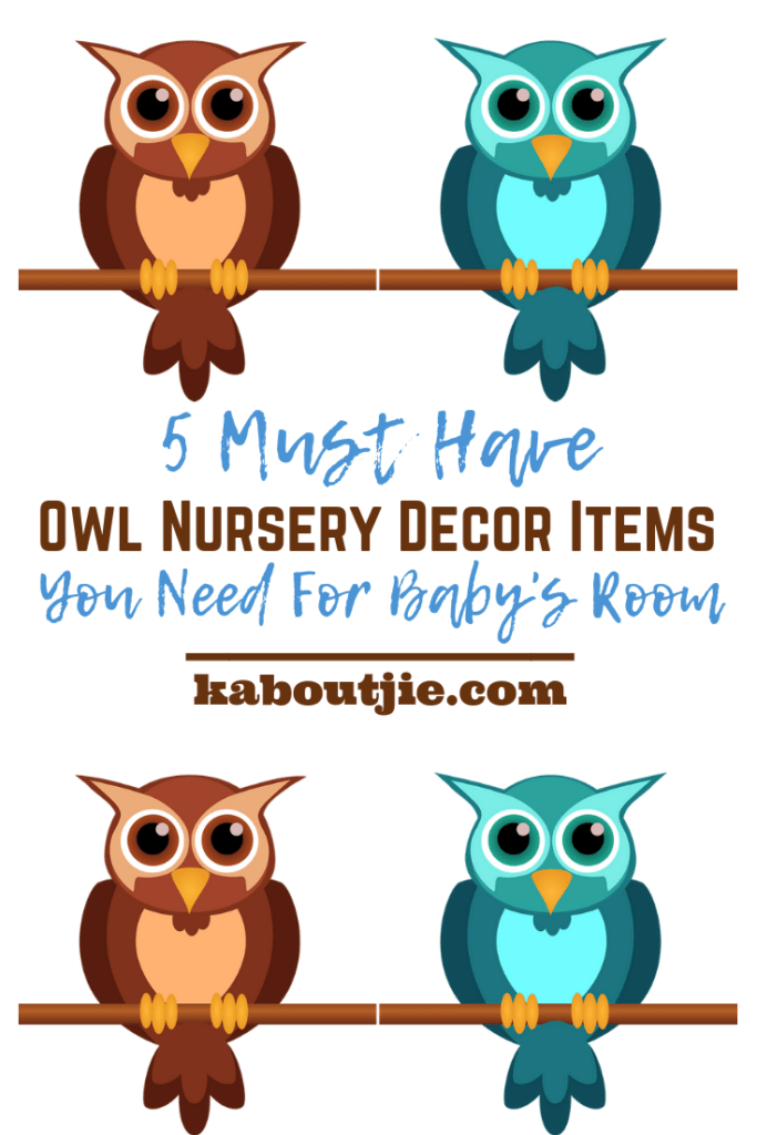 5 Must Have Owl Nursery Decor items You Need For Baby's Room