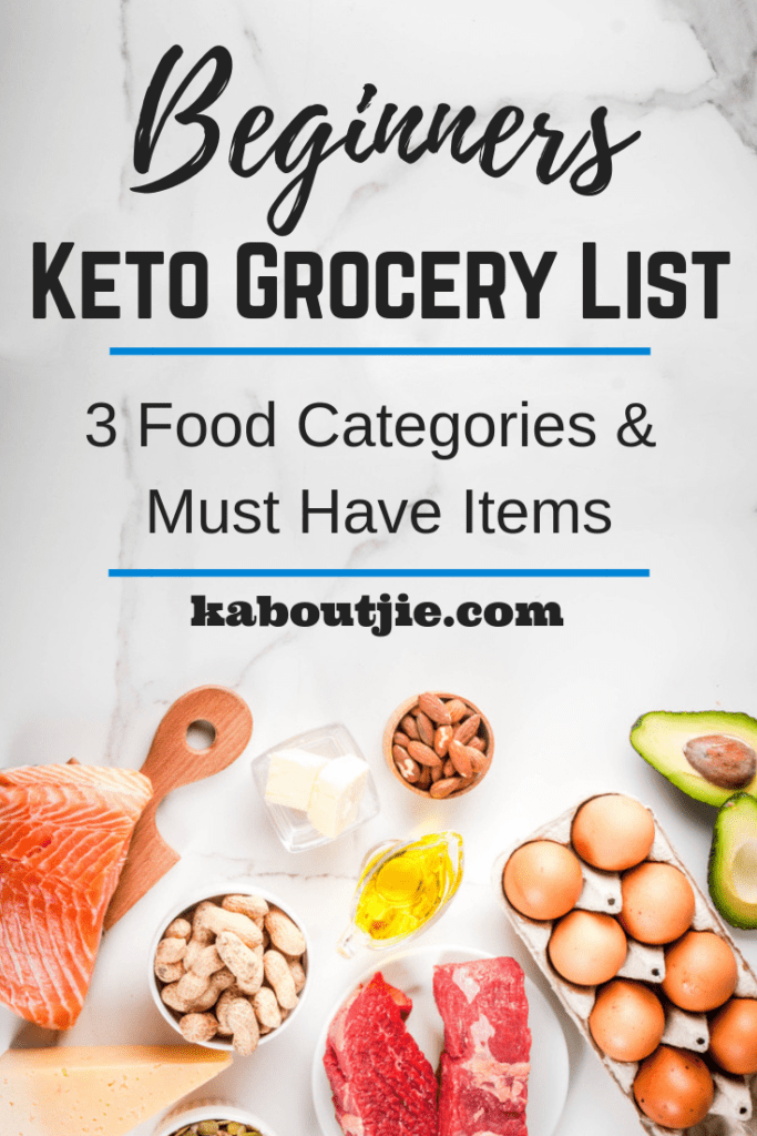 Beginners Keto Grocery List – 3 Food Categories and Must Have Items