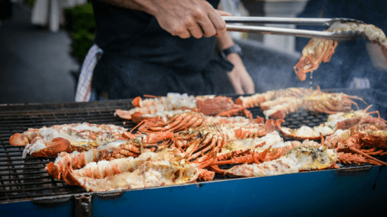 Crayfish barbecue