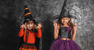 Little Girls Dressed As Witches