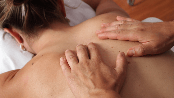 Massage Therapy Hands On Back
