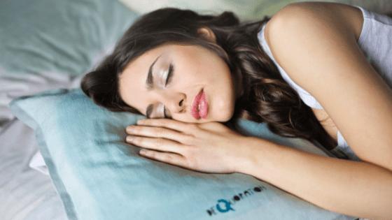 Pretty dark haired woman sleeping