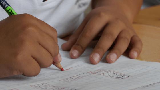 Child Doing Schoolwork