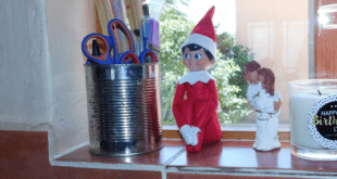 Elf On The Shelf Kitchen Window