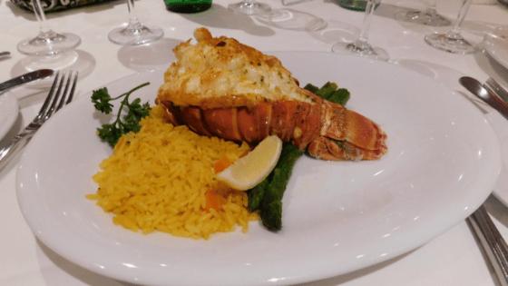 Gala dinner lobster
