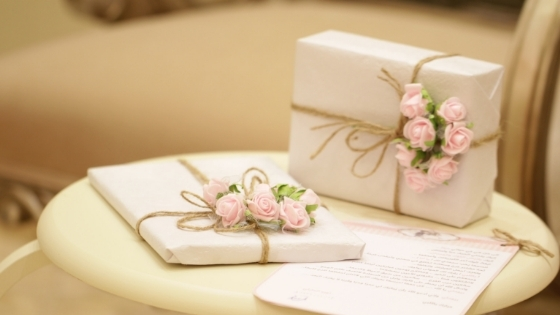 Gifts with flower decor