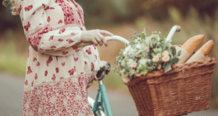 Pregnant woman with bicyle