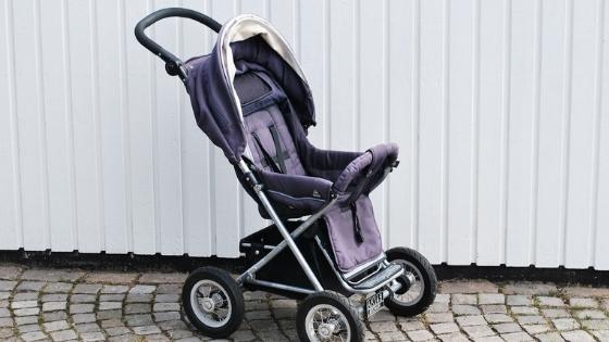 Blue Baby Stroller