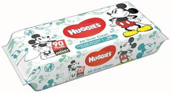 Huggies wipes Mickey Mouse