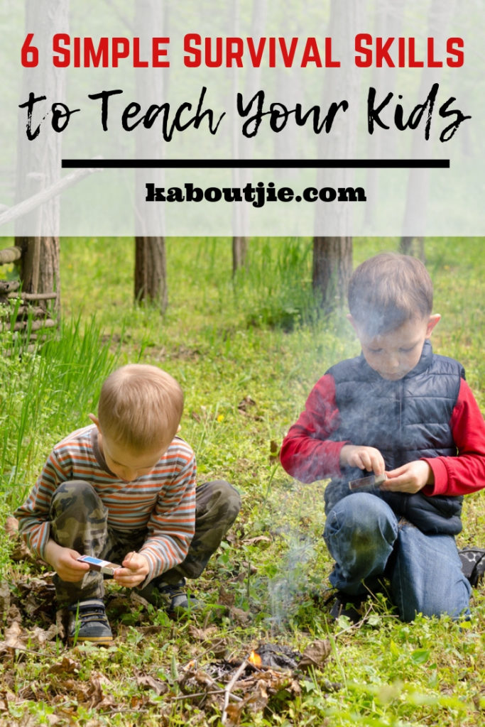 6 Simple Survival Skills To Teach Your Kids