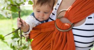 Babywearing orange wrap