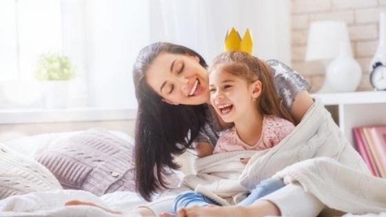 Happy mother daughter