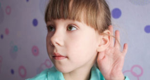 Child struggling to hear