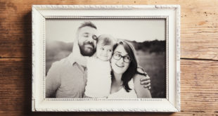 Family photo in frame