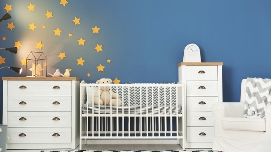 Nursery stars on wall