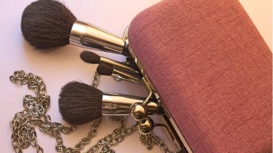 Pink makeup bag