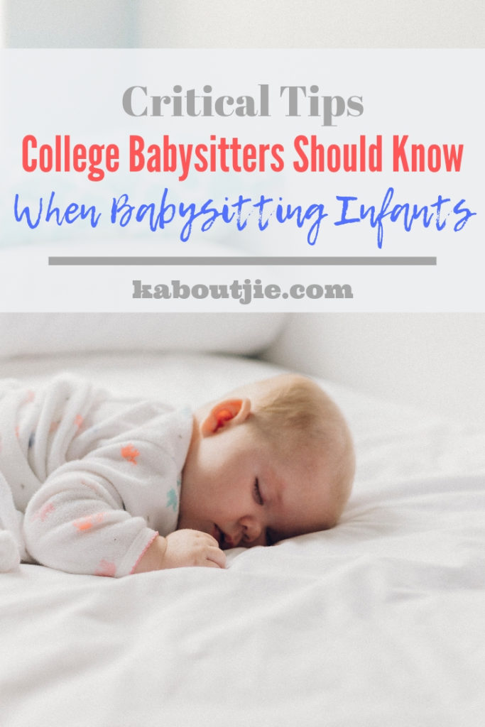 Critical Tips College Students Should Know When Babysitting Infants