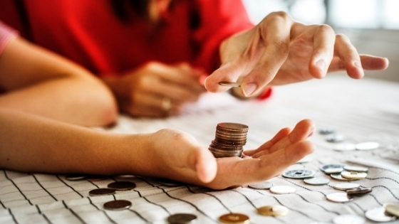 Counting out coins