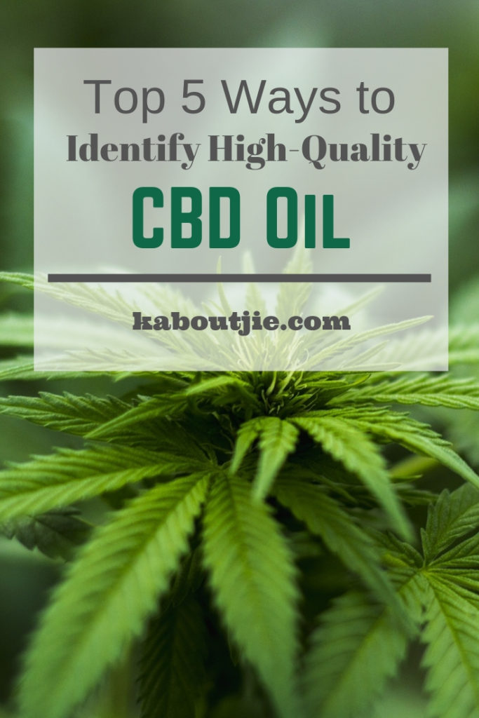 Top 5 Ways To Identify High Quality CBD Oil