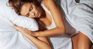 Woman sleeping snore