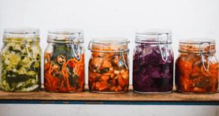 Kimchi in bottles