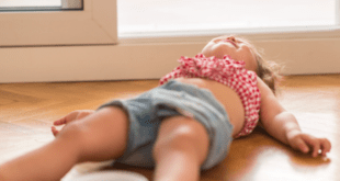 Toddler Lying On Floor