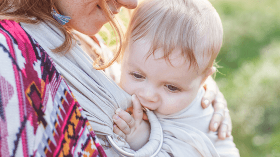 Baby ring sling