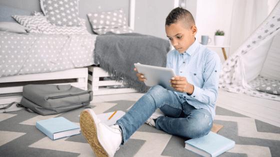 Boy Learning Online
