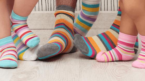 Family Wearing socks