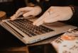 Laptop woman's hands