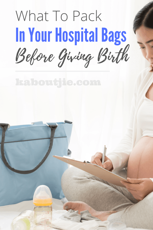 What To Pack In Your Hospital Bags Before Giving Birth